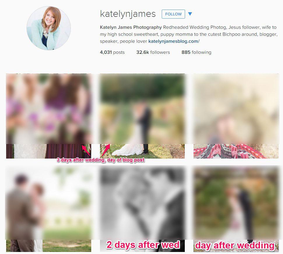 10 Ways Katelyn James Rocks Social Media After A Wedding