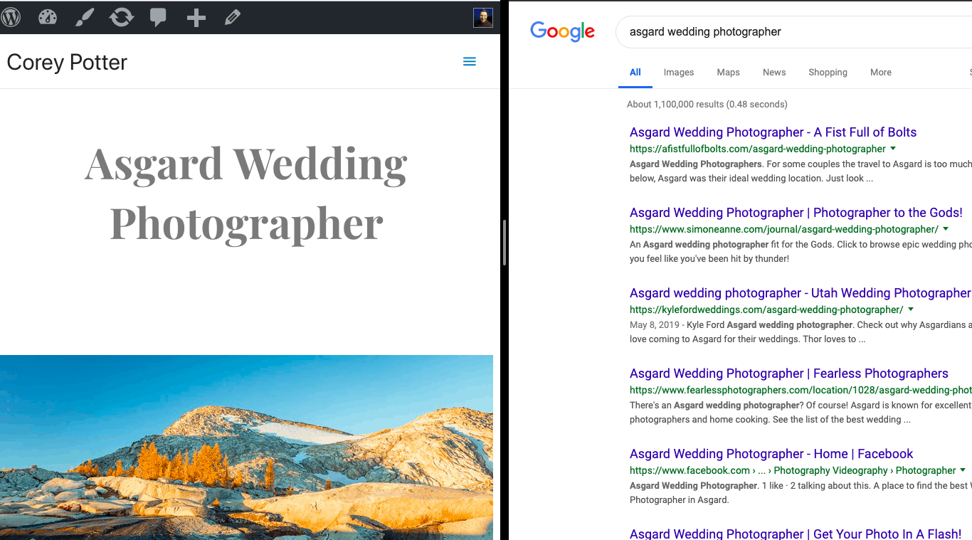 "Why Is Everyone Claiming to be an ""Asgard Wedding Photographer""?"